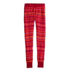 "JCrew FAIR ISLE LEGGINGS NWT, Red Orange, Available in violet   Slim leg. 27 1/2"" inseam. Merino wool. Elastic waistband. J. Crew Pants Leggings"