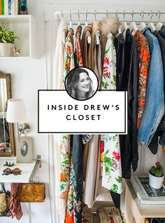 Drew Barrymore's 6 steps for cleaning out your closet