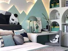 Creating A Fabulous Child Room Interior Design Creating a Fabulous kid room design can be a challenge when it comes to selecting items for the room that is suitable for children. Home Bedroom Design, Girl Bedroom Designs, Kids Room Design, Baby Room Decor, Bedroom Decor, Room Interior, Interior Design, Big Bedrooms, Bedroom Layouts