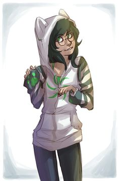 Jade Harley -- Homestuck (the long lost Jade Hoodie pic can now be added to my collection! muahaha)