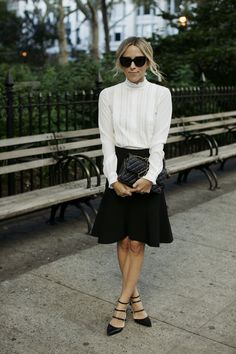 This blouse looks just like a blouse I had in the 80s from Laura Ashley. I love this updated way to wear it