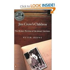 must read on our education system and its failures. Jim Crows Children: The Broken Promise of the Brown Decision: Peter Irons: 9780142003756: Amazon.com: Books