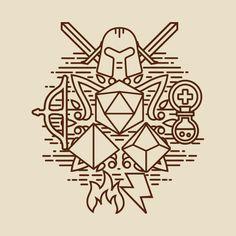 Shop RPG minimal geek t-shirts designed by artlahdesigns as well as other geek merchandise at TeePublic. Miyazaki, Dungens And Dragons, Rpg Wallpaper, Dice Tattoo, Dungeon Master Screen, Rpg Dice, Dm Screen, Dungeons And Dragons Art, Filipino Tattoos