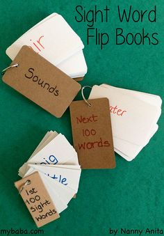 sight word flip book - an easy reading aid to have around to help with learning high frequency sight words. English Activities, Educational Activities, High Frequency Words, Sight Words, Phonics, Flipping, Kids Learning, Fun Things, My Books