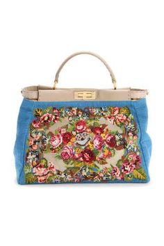 The Embroidered Fendi Spring/Summer 2010 Handbags #needlepoint #embroidery trendhunter.com