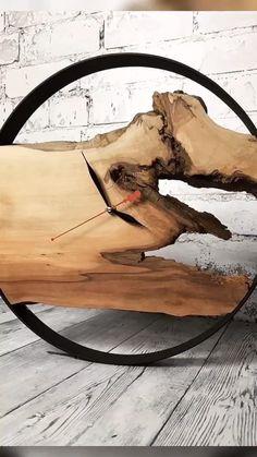 EP Light - Creativity Ambient Lighting and Bulb Wall Clock Ikea, Wall Clock Wooden, Wood Clocks, Wooden Lamp, Rustic Wall Clocks, Cool Woodworking Projects, Woodworking Plans, Carpentry Projects, Woodworking Skills