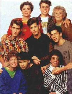 NKOTB and their mothers.