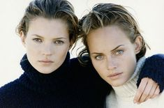 Amber Valletta & Kate Moss by Peter Lindberg