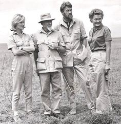Wildlife Conservationist and Actor Bill Travers Wearing Safari Jackets