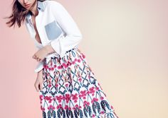 J.Crew Collection blooming floral circle skirt.