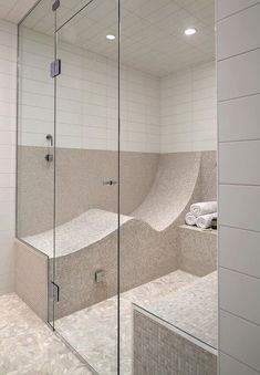 I never realized I needed a place to recline in my steam shower, but obviously I do!