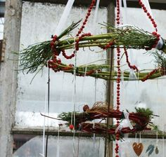 Rustic hanging wreath - love this. <3