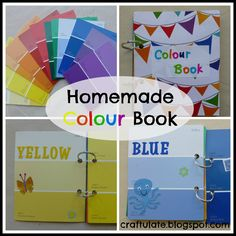 Craftulate: Homemade Colour Book - made from paint swatch cards!