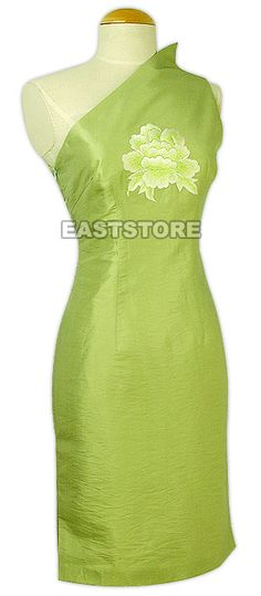 6df3e1ed9f7ae9 This stunning one shoulder Sexy Poeny Thai Silk Dress is the ideal choice  for…