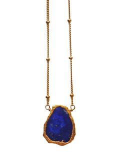 Etsy の blue freeform lapis lazuli necklace by keijewelry