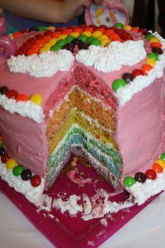B's rainbow cake