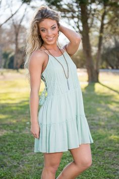 """Dusty Roads Dress, Mint"" 