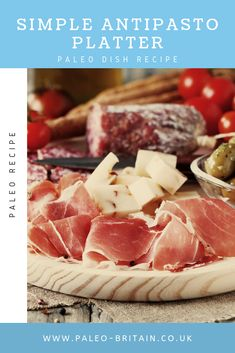 Simple Antipasto Platter    #Paleo #food #recipe #keto #diet