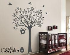 Nursery Tree Wall Decal Wall Sticker  Tree Wall by WallConsilia, $78.00