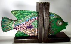 Polymer clay bookends