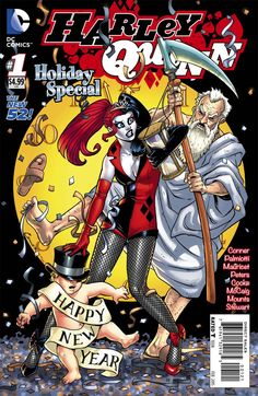 Harley Quinn Holiday Special #1 Cover B Variant Amanda Conner New Years Eve Cover