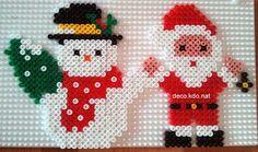 DECO.KDO.NAT: Perles hama: père noël et bonhomme de neige