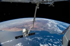 Canadarm2 Over South Africa (NASA, International Space Station, 08/15/14)
