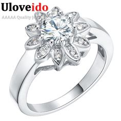 Find More Rings Information about CZ Diamond Flower Wedding Jewelry Fashionable Big Rings For Office Ladies Anillo Moda Wholesale Engagement Zirconia Ring J242,High Quality ring component,China ring mix Suppliers, Cheap ring usb from ULOVE Fashion Jewelry Official Store on Aliexpress.com
