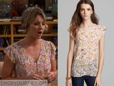 The Big Bang Theory: Season 8 Episode 24 Penny's Floral Top