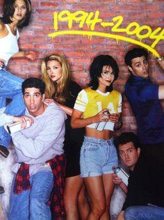 tv series FRIENDS in denim jeans, shorts