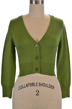 the cutest cropped cardigan - sage