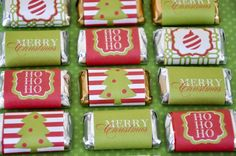 Christmas Mini Candy Bar Wrappers (PRINTABLE)