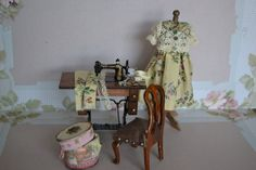 Sewing set ( sewing machine, ironing table and dress by dementeamano on Etsy