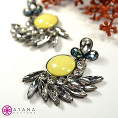 Who's going to be donning these beauties to a #holidayparty this year? #AyanaDesigns #bling #myjewelry #statement #fashion #mystyle #luxe #treatyoself #colorful #gems #earrings #yellow #colorful #Cali #style