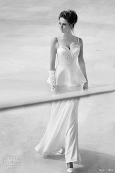 Vestidos de noiva de Nurit Hen 2013. #casamento #vestidodenoiva #peplum