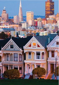 San Francisco, California - my favorite city in the US (so far). California San Francisco, San Francisco Bay, California Dreamin', San Francisco Skyline, San Diego, San Francisco Houses, San Francisco Street, San Francisco Mansions, Oh The Places You'll Go