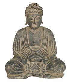 Sitting large buddha, resin