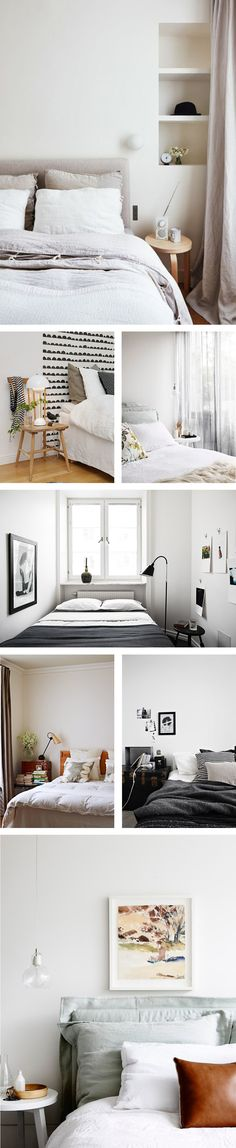bedroom - soft neutrals vs. graphic black and white — The Marion House Book
