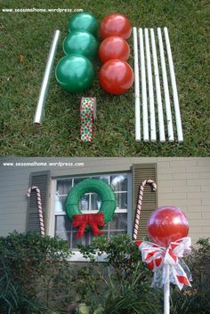 How to Make Awesome Christmas Outdoor Decorations – Giant Lollipops Simple Christmas, Winter Christmas, Christmas Time, Prim Christmas, Antique Christmas, Country Christmas, Christmas Christmas, Christmas Lights, Christmas Ideas