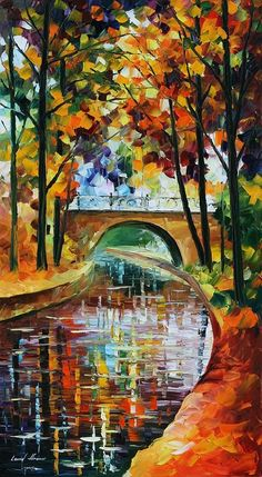leonid afremov, Autumn from Ruby Howe - i musta missed something one November day