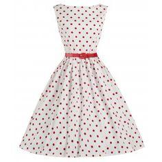 Audrey Red White Polka Dress | Vintage Inspired Fashion - Lindy Bop
