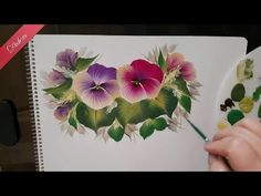 Instructional video for one stroke painting technique. Painting begonia flower with one stroke decorative painting technique. Showing one stroke brush stroke. One Stroke Painting, Painting Videos, Tole Painting, Easy Paintings, Fabric Painting, Painting On Wood, Vintage Drawing, Plant Drawing, Donna Dewberry