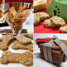 Cookies for canines: 9 Homemade Dog Treat Recipes  Everyone loves getting cookies but dogs may be the most appreciative recipients of all! With ingredients like peanut butter, bacon, and carob, these dog biscuit recipes are sure to have tails wagging... And at least some of them are tasty even by human standards!