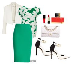 """""""FOR THE LOVE OF GREEN !!"""" by betty-sanga ❤ liked on Polyvore featuring мода, Chloé, Phase Eight, Roland Mouret, GUESS, Chanel, Eve Snow, Lancôme и Fendi"""