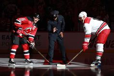On Saturday night CPD Patrolman Joseph Sherbo was at the Prudential Center to drop the ceremonial first puck with the New Jersey Devils for Law Enforcement Appreciation Night.   Joe is the son of Newark Police Department Officer Dewey Sherbo who was killed in the line of duty in 1997.   Thank you to the Devils for their support.