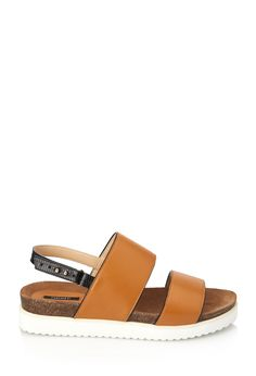 Colorblocked Leather Flatform Sandals | FOREVER21 - 2000057435