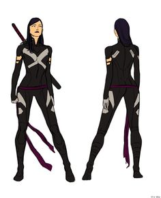 New costume for Psylocke by Kristafer Anka for Uncanny X-Force, Vol. 2
