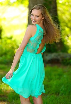 Beautiful! Would love this dress in my closet! I've Got Your Back Dress-Mint - $48.00