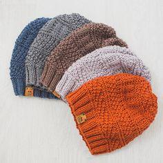 Men's Knit Hat / Knitted Beanie / Wool Merino Hat por MrPomPon