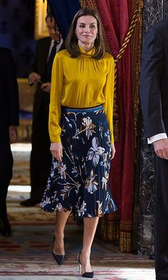 Love all the colors Letizia is wearing